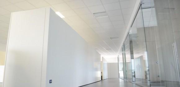 parete divisoria vetrata